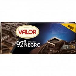 CHCTE. VALOR NEGRO 92% 170 GRS